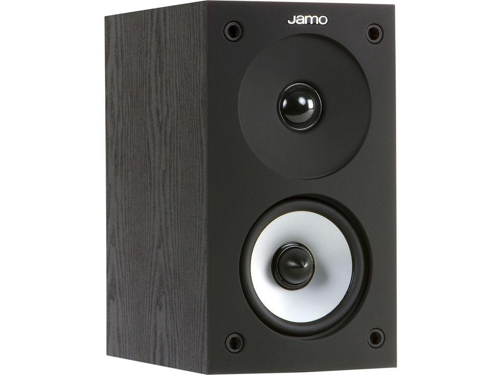 Jamo S 622 boekenplank luidspreker kleur zwart zijaanzicht