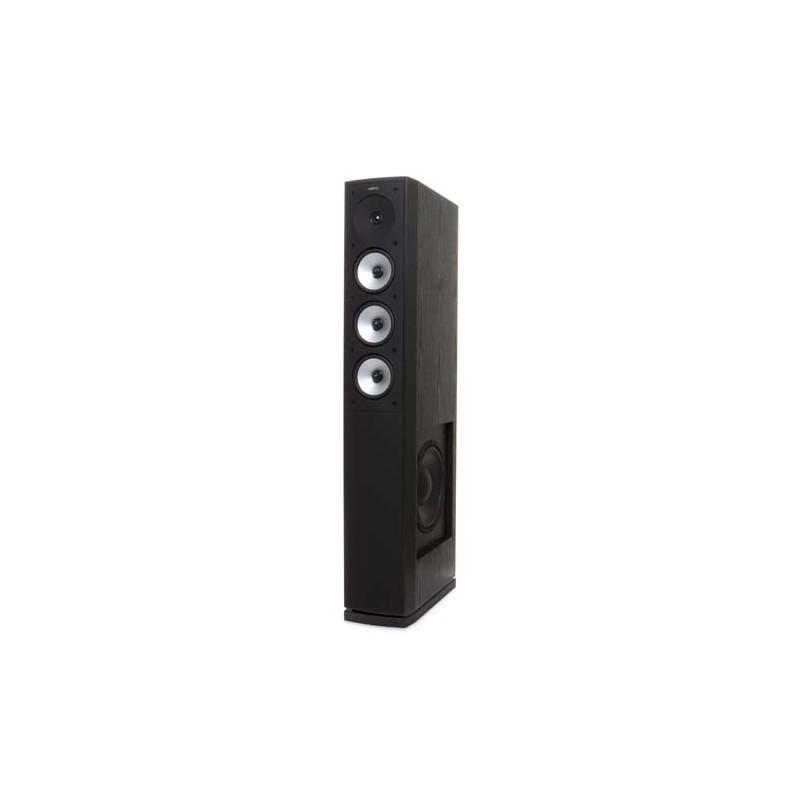 Jamo S 628 vloerstaande luidspreker kleur zwart zijaanzicht